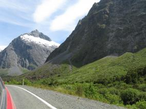 Driving Through Fiordland