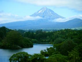 Mt Taranaki from Lake Mangamahoe
