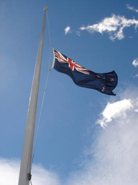 New Zealand Flag at Half Mast at KiwiWise