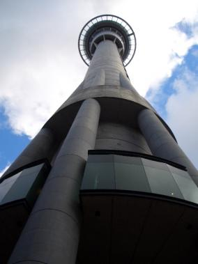 Looking up at the Sky Tower