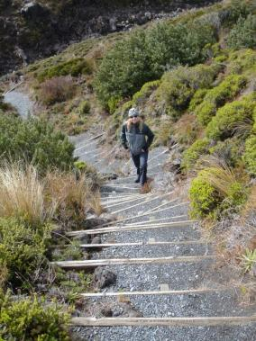 Stairs on Mt Ruapehu