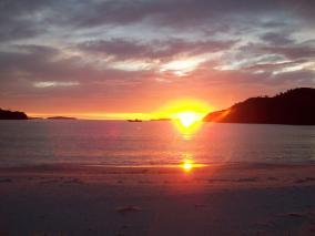 Sunrise over Stewart Island